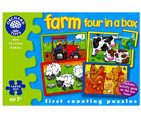 Pussel Farm four in a box