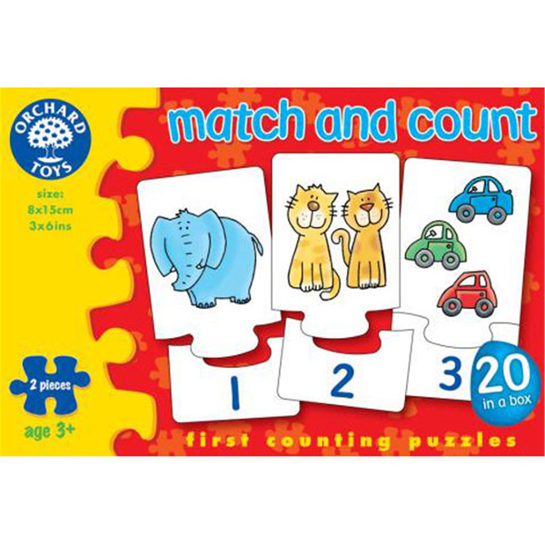 Pussel - Match and Count från Orchard Toys